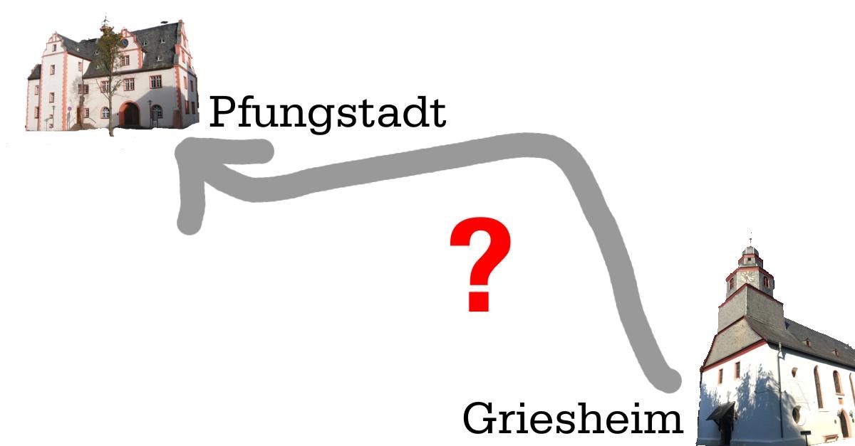 Nach Pfungstadt über Umwege