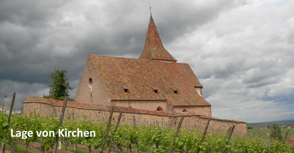 Lage von Kirchen