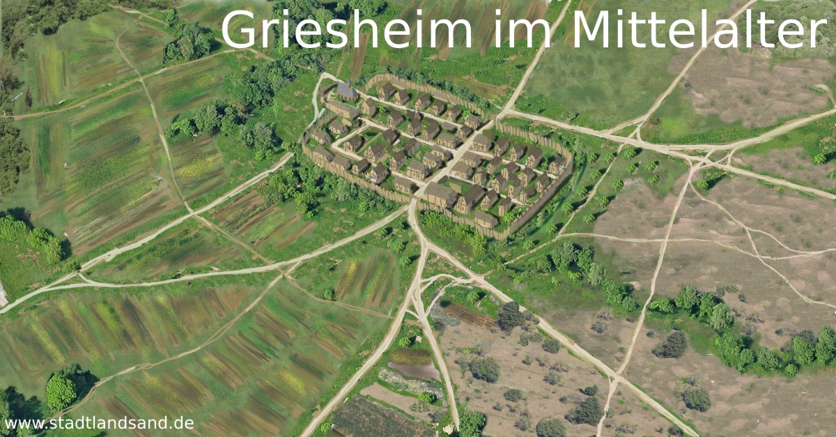Rekonstruktion von Griesheim im Mittelalter