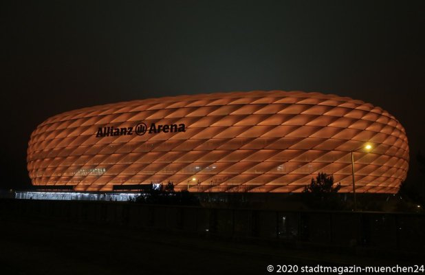 Allianz Arena, Orange the World , Internationaler Tag gegen Gewalt an Frauen in München 2020