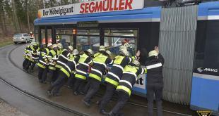 Tram entgleist