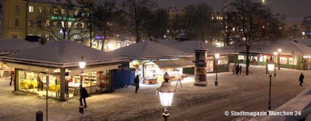Viktualienmarkt München Nacht Winter 660