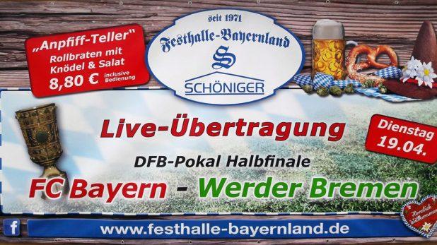 DFB Pokal Live Festhalle Bayernland