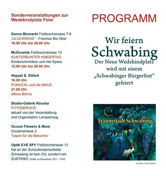 Programm Bürgerfest Wedekindplatz