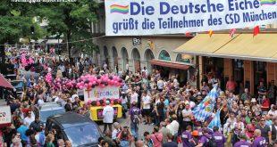 CSD Parade vor Deutsche Eiche München