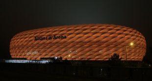 Allianz Arena in Orange