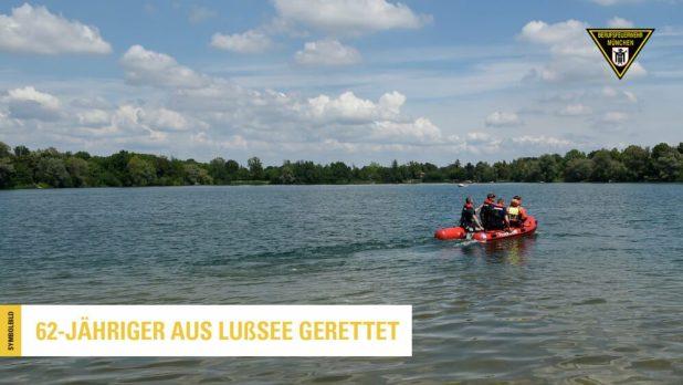 Übung der Tauchergruppe Feuerwehr München im Lußsee