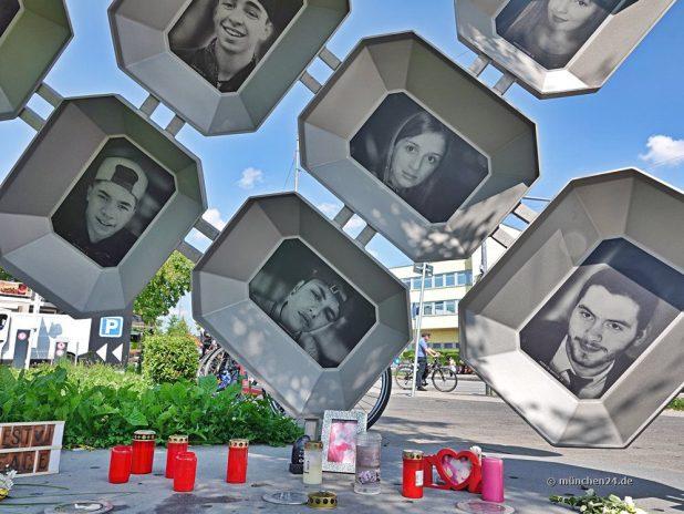 Denkmal zur Erinnerung an die Opfer des rassistischen OEZ-Attentats am 22. Juli 2016