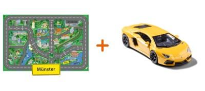 Combideal: stadtspielteppich Munster und Lamborghini Aventador Gelb