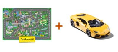 Combideal: stadtspielteppich Dortmund und Lamborghini Aventador Gelb