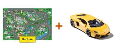 Combideal: stadtspielteppich Bochum und Lamborghini Aventador Gelb