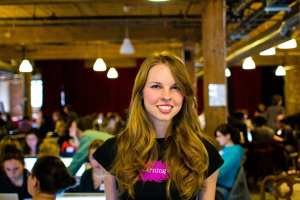 Heather Payne was photographed by Jon Lim at a Ladies Learning Code workshop