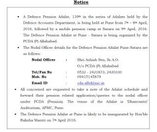 defence+pension+adalat+satara