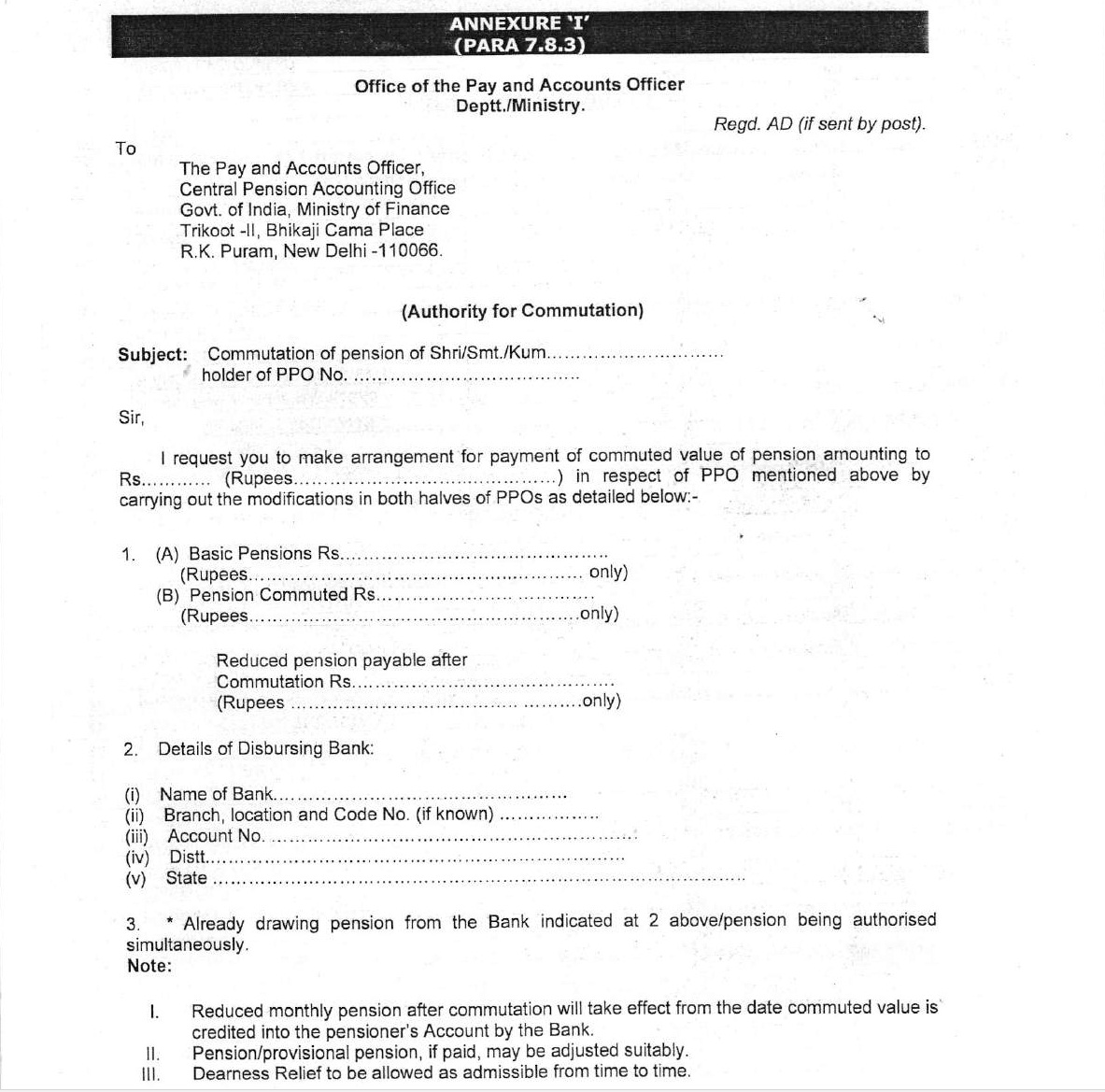 Payment of Commuted Value of Pension – Clarification by CPAO vide OM dated 17-06-2021