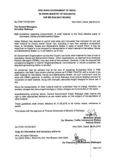 railway-order-free-transport-karnata-kerala-maharashtra-flood-10aug19