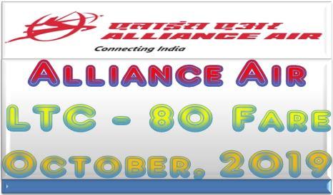 Alliance Air LTC-80 Farefor October, 2019