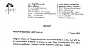 choice-of-pension-funds-and-investment-pattern-in-tier-i-of-nps-pfrda-circular-01-june