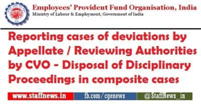Reporting cases of deviations by Appellate