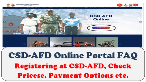 CSD-AFD Online Portal FAQ: Registering at CSD-AFD, Check Pricese, Payment Options etc.