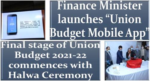 """Final stage of Union Budget 2021-22 commences with Halwa Ceremony, Finance Minister launches """"Union Budget Mobile App"""""""