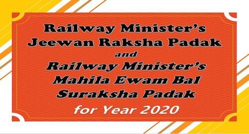MR's Jeewan Raksha Padak and MR's Mahila Ewam Bal Suraksha Padak for the year 2020: Railway Board Order