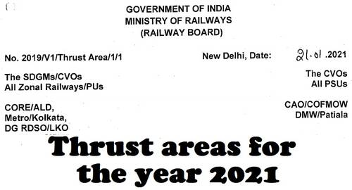 Thrust areas for the year 2021 to eliminate scope for corruption and improve the system: Railway Board