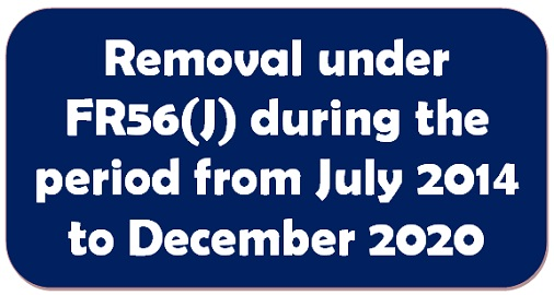 Removal under FR56(J) during the period from July 2014 to December 2020