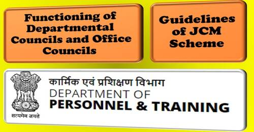 Meetings of Departmental Council / Office Council are essential: DoPT to all Ministries/Departments