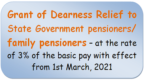 grant-of-dearness-relief-to-state-government-pensioners-family-pensioners-at-the-rate-of-3-of-the-basic-pay-with-effect-from-1st-march2021