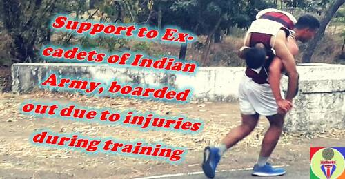 Support to Ex-cadets of Indian Army, boarded out due to injuries during training
