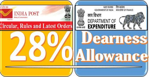 Grant of Dearness Allowance -Revised Rates effective from 01.07.2021: Department of Post