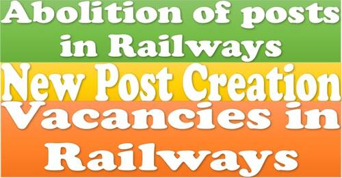 Abolition of Posts in Railways, New post creation, Vacancies as on 1st July 2021 and operational difficulties