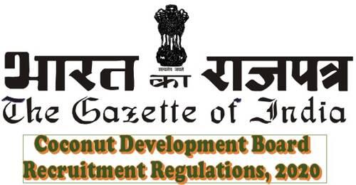 Coconut Development Board Recruitment Regulations, 2020
