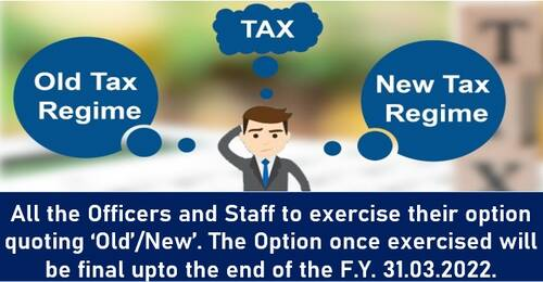 Deduction of Income Tax at Source for the AY-2022-23 – Exercise of option reg