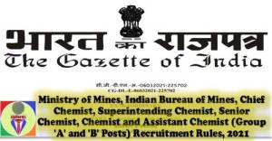 ministry-of-mines-indian-bureau-of-mines-group-a-and-b-posts-recruitment-rules-2021
