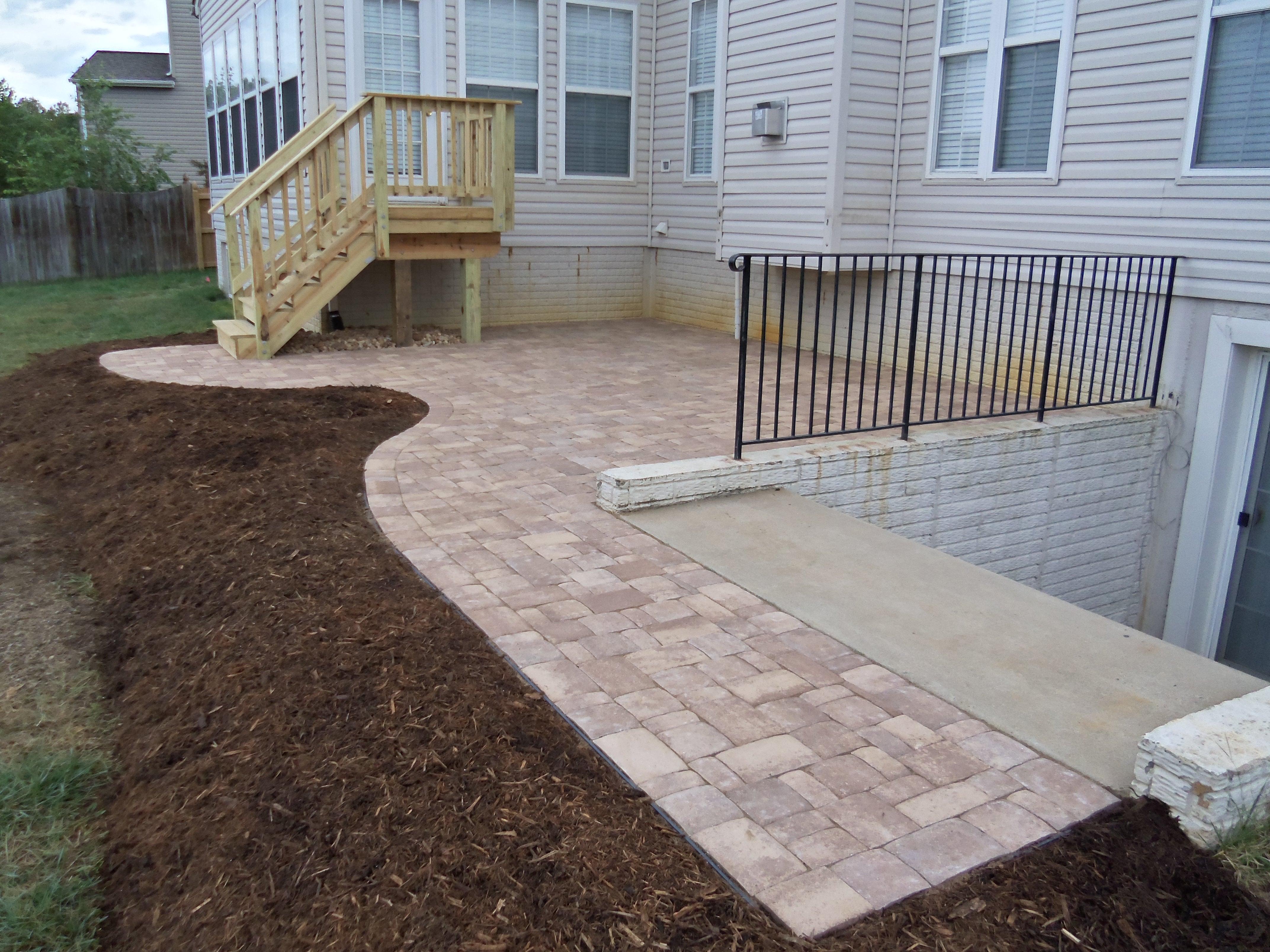 brick paver patio and deck in fredericksburg va | Stafford ... on Brick Paver Patio Designs  id=18409