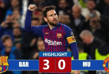 Barcelona vs Manchester United 3-0 Goals & Full Highlights – 2019