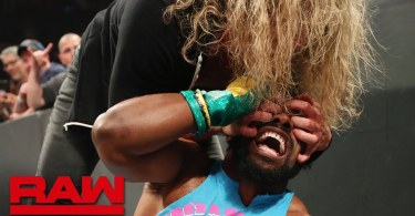 xavier woods brawls with dolph z