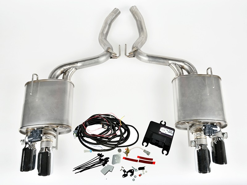 2015 2020 mustang ecoboost roush axle back active exhaust system 421928