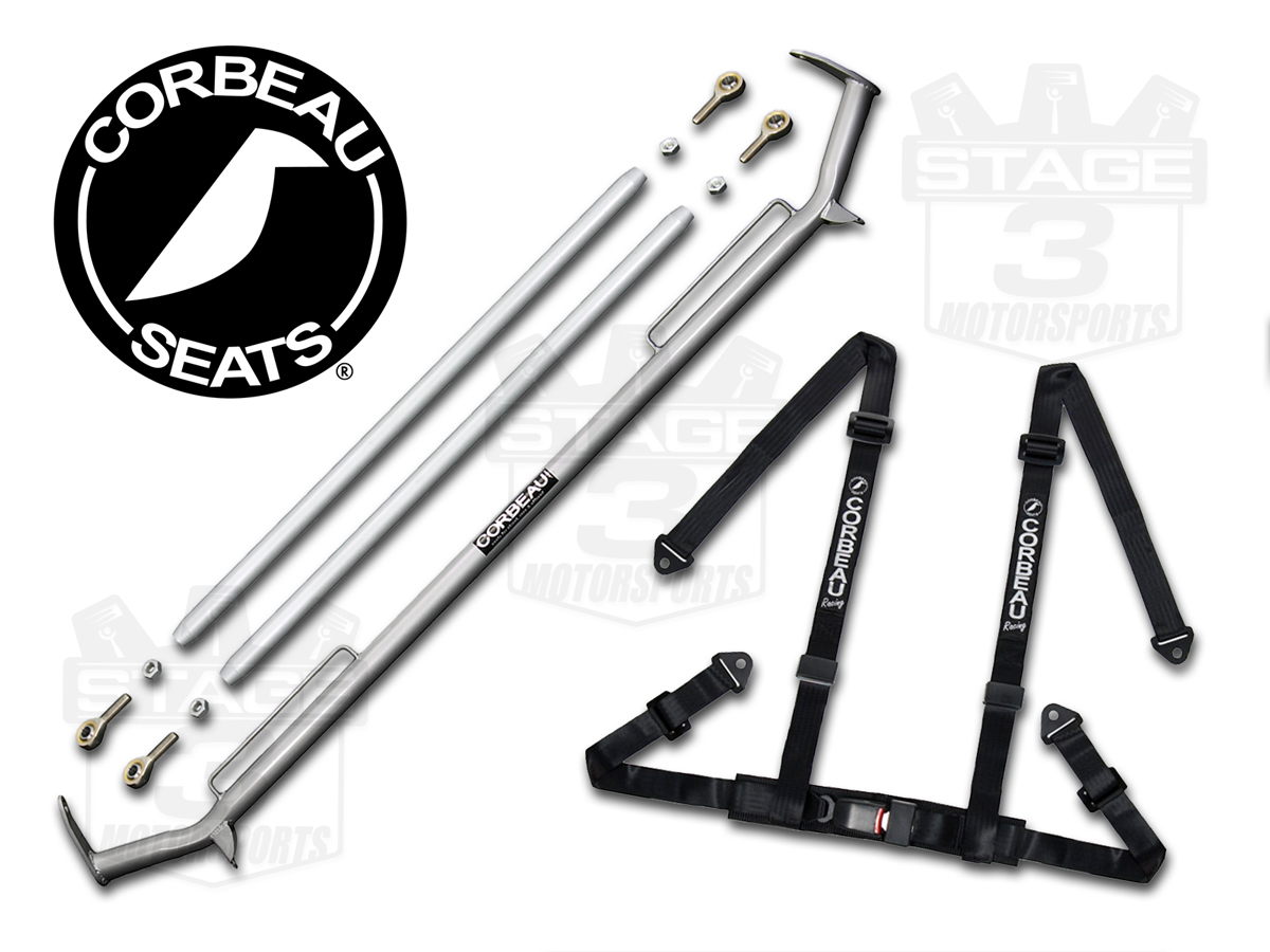 Mustang Coupe Corbeau Harness Bar Harness Combo Kit Chb Ms