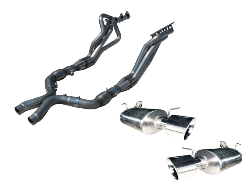 Mustang Gt American Racing 1 3 4 Headers Amp Catted X Pipe W Axle Back Kit Mtcgt
