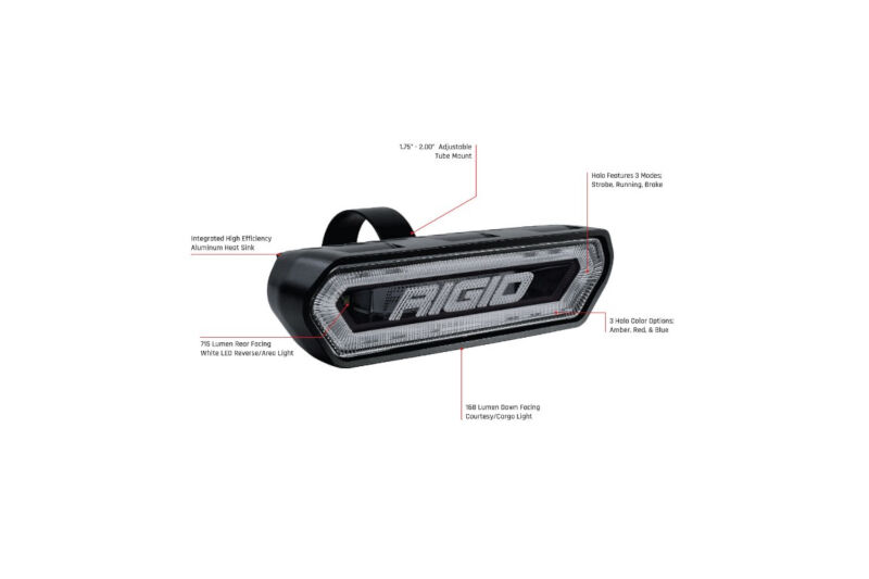 Rigid Industries Rear Facing Led Chase Light Amber