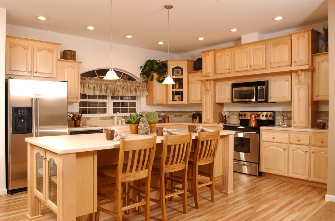 Kitchen Colors with Maple Cabinets - Home Furniture Design on Maple Cabinets  id=31514