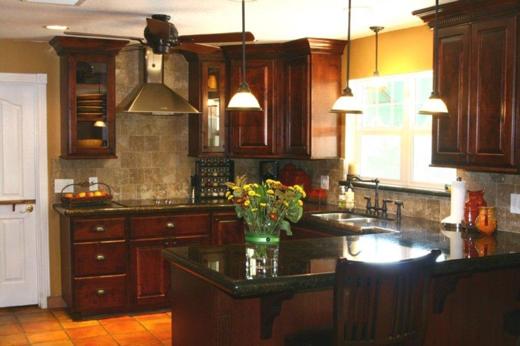 Kitchen Backsplash Ideas for Dark Cabinets - Home ... on Backsplash Ideas For Dark Cabinets  id=83362