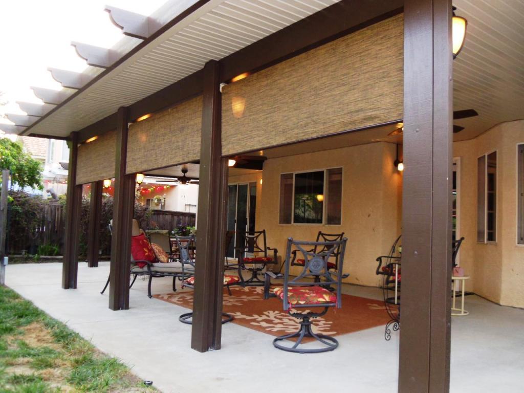 Aluminum Wood Patio Cover - Home Furniture Design on Patio Cover Ideas Wood id=49647