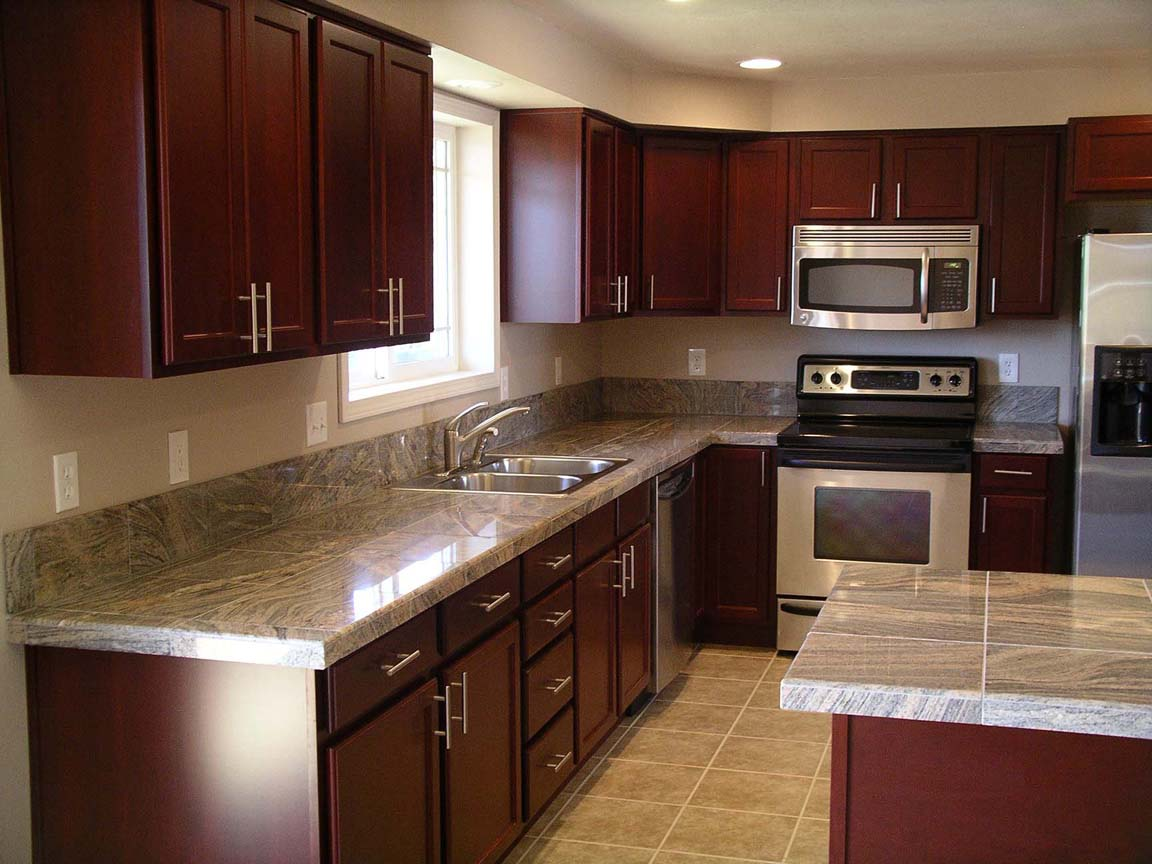 Dark Cherry Cabinets with Granite Countertops - Home ... on Dark Granite Countertops With Dark Cabinets  id=47059