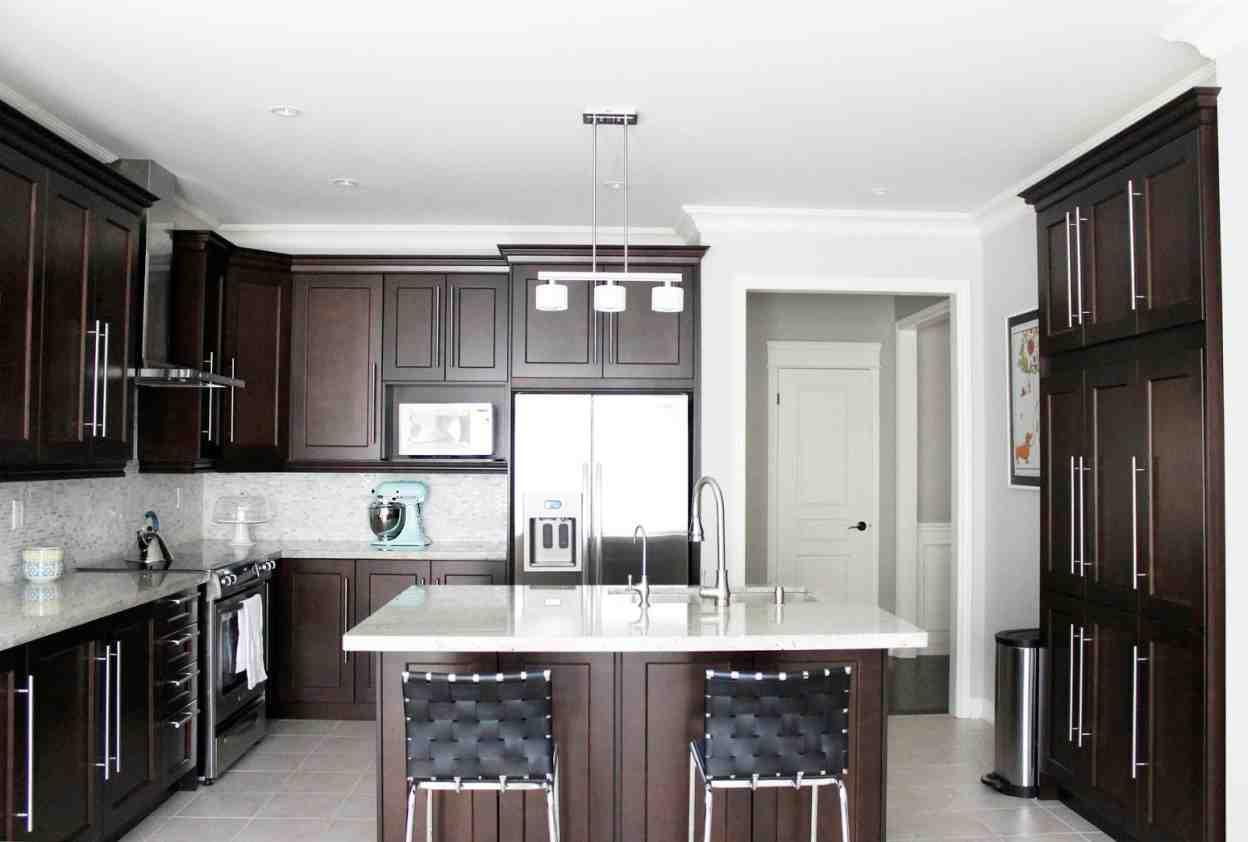 Dark Maple Kitchen Cabinets - Home Furniture Design on Dark Maple Cabinets  id=32965