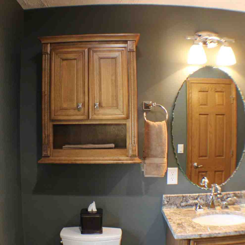 Maple Bathroom Wall Cabinet - Home Furniture Design on Bathroom Ideas With Maple Cabinets  id=88864