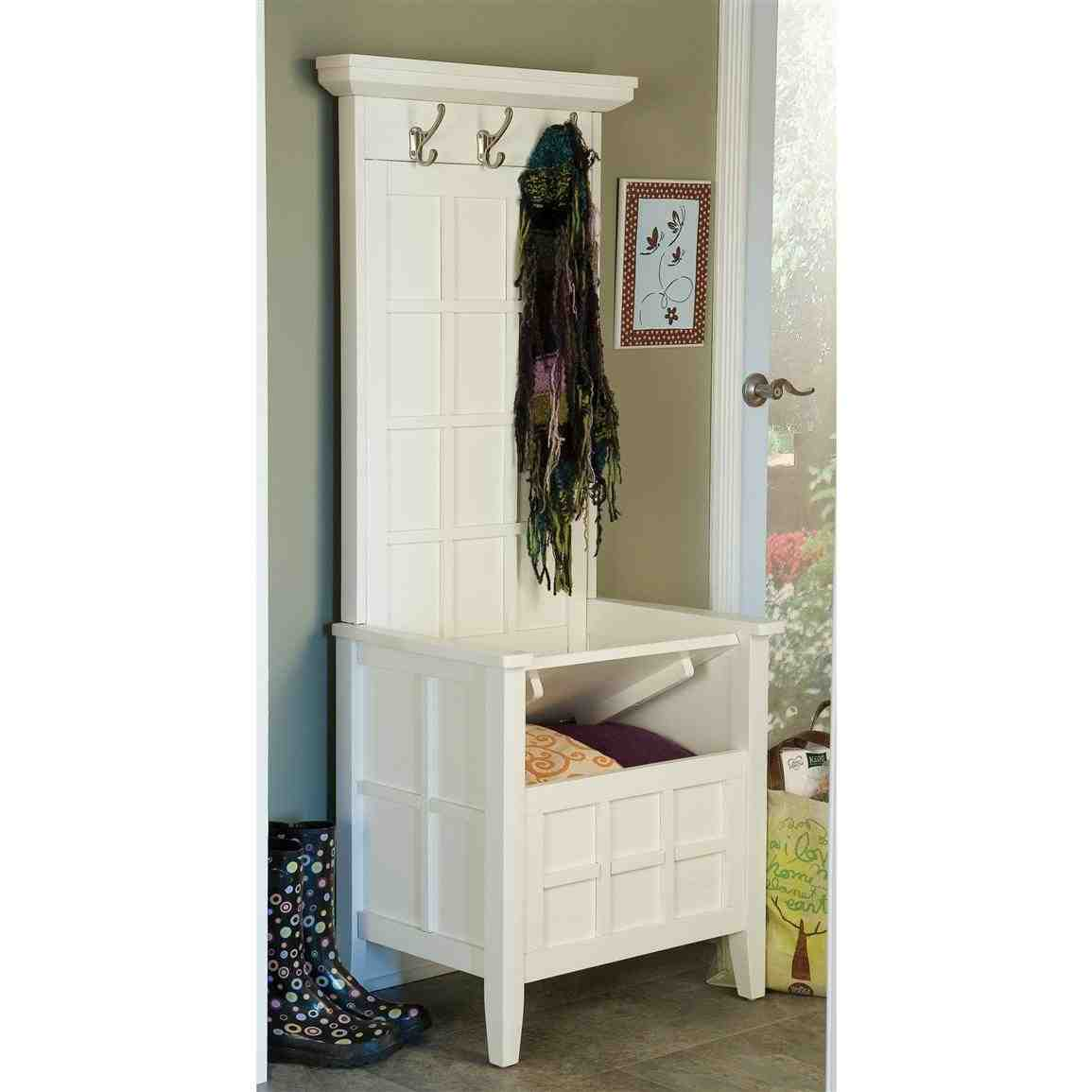 Mini Hall Tree Storage Bench Home Furniture Design