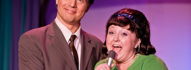 Greg Kasander and Nicole Bright star in Steel River Playhouse's HAIRSPRAY.